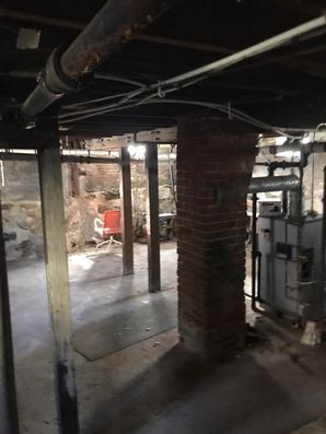 Mold & Asbestos Removal after Basement Flood from Burst Pipes in Pittsfield MA (1)