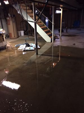 Flooded Basement in Sandsfield MA (1)