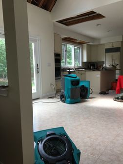 Water Damage Drying in Progress & Mold Mitigation Sturbridge, MA (2)